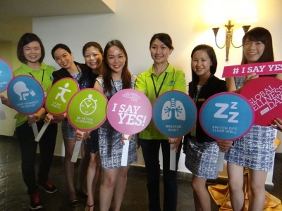ALL FOR WELLNESS  --  Participants at GWD 2015 urge everyone to start pr....jpg
