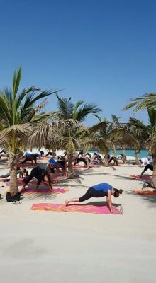 Photo Beach Yoga Talise Madinat Dubai GWD June 2015.jpg