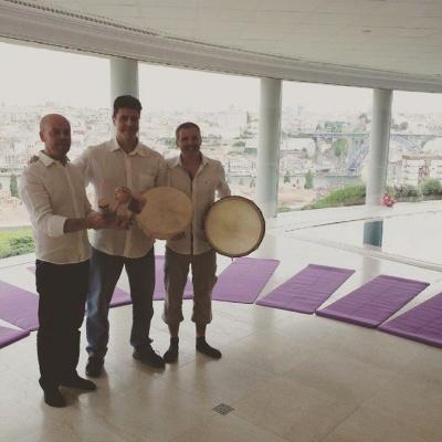 Yeatman Porto Orion Shamanic Drumbs purple mats GWD Portugal 2015.jpg