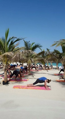 Photo Beach Yoga Talise Madinat Dubai GWD June 2015.jpg